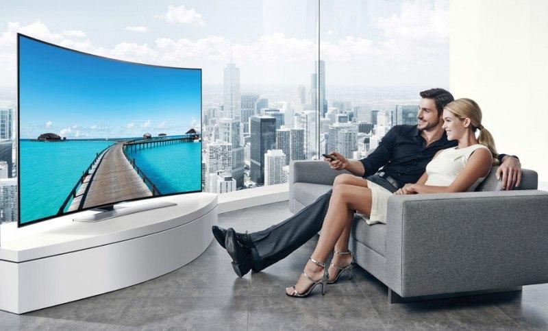 TV 4K incurvée